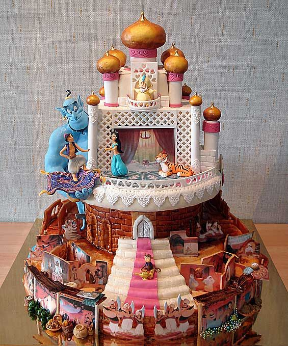 Front Side of Aladdin Cake made by Art Cake
