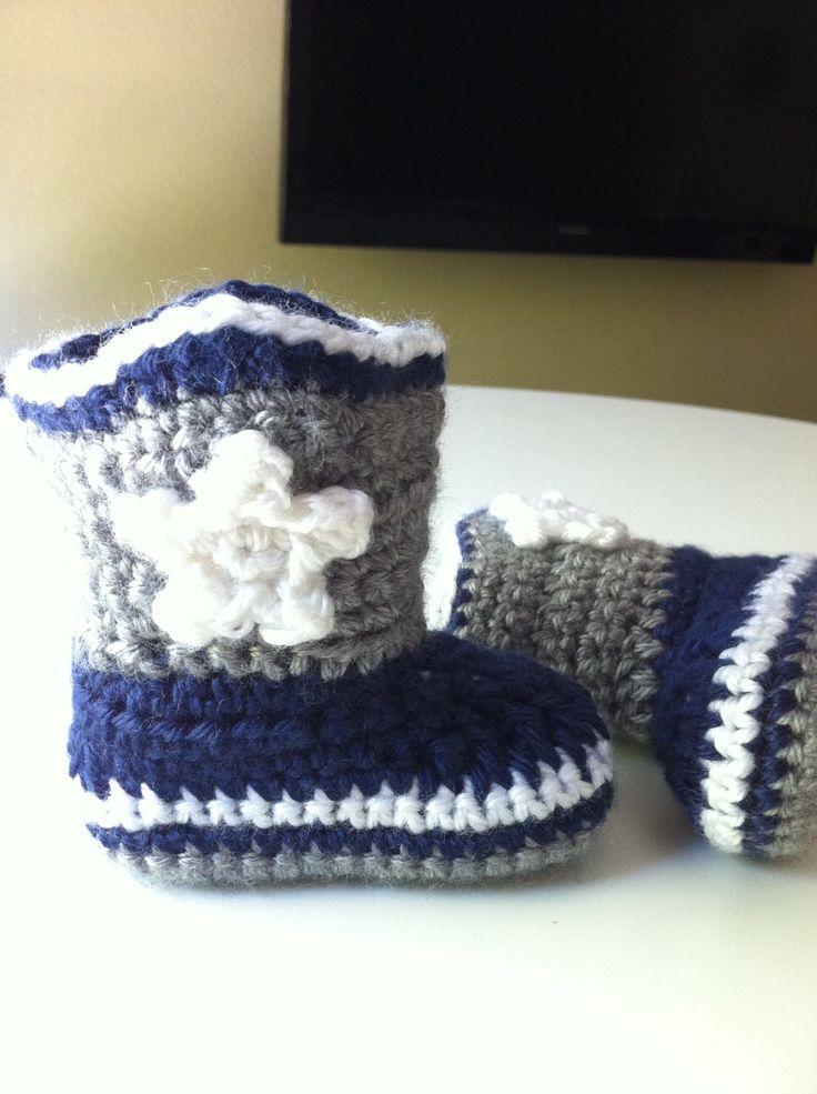 cowboy crochet boots