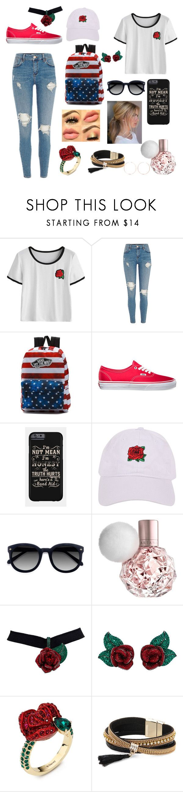 """Rosy cheeks"" by styleparty ❤ liked on Polyvore featuring Vans, Armitage Avenue, Ace, Atelier Swarovski, Simons and Anita Ko"