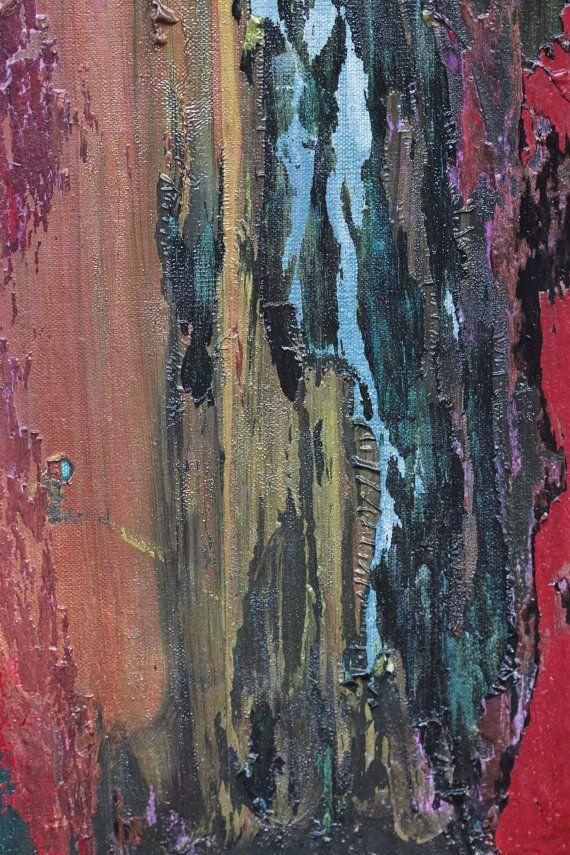 Rode schuur  * Dit schilderij heeft verkocht. Gelieve mij boodschap voor een vergelijkbare aangepaste schilderij voor u! Koop geen deze aanbieding... Ik wil een nieuwe aanbieding voor uw aangepaste kunst. Dank u!  Dit is een originele 24 X 36 abstracte schilderij van Amy Neal Art Studio. De inspiratie voor dit stuk is de kant van een oude schuur. Het heeft gedragen vele kleuren gedurende de levensduur, met rode wordt is het definitieve tint. Dit schilderij werd gevormd door het toevoegen van…
