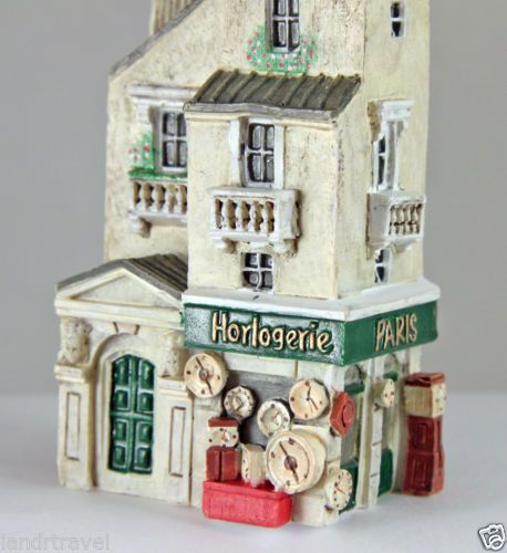 NEW J CARLTON BY GAULT HANDPAINTED FRENCH MINIATURE HORLOGERIE BUILDING