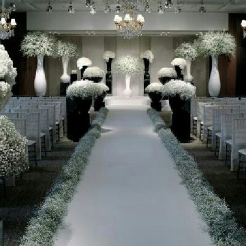 I Love The Baby S Breath Lining The Aisle Wedding