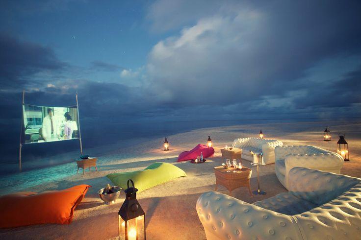Beach cinema x Belle Mare x Mauritius