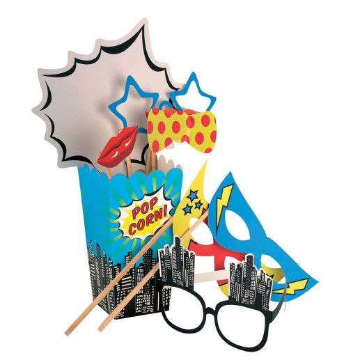 Photo Booth Set – Pop Art Superhero