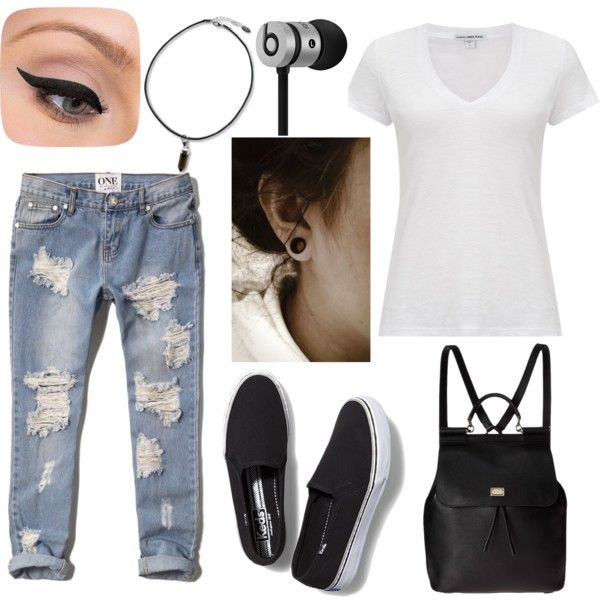 lazy by raczreka on Polyvore featuring polyvore fashion style James Perse Abercrombie & Fitch Keds Dolce&Gabbana Beats by Dr. Dre LORAC