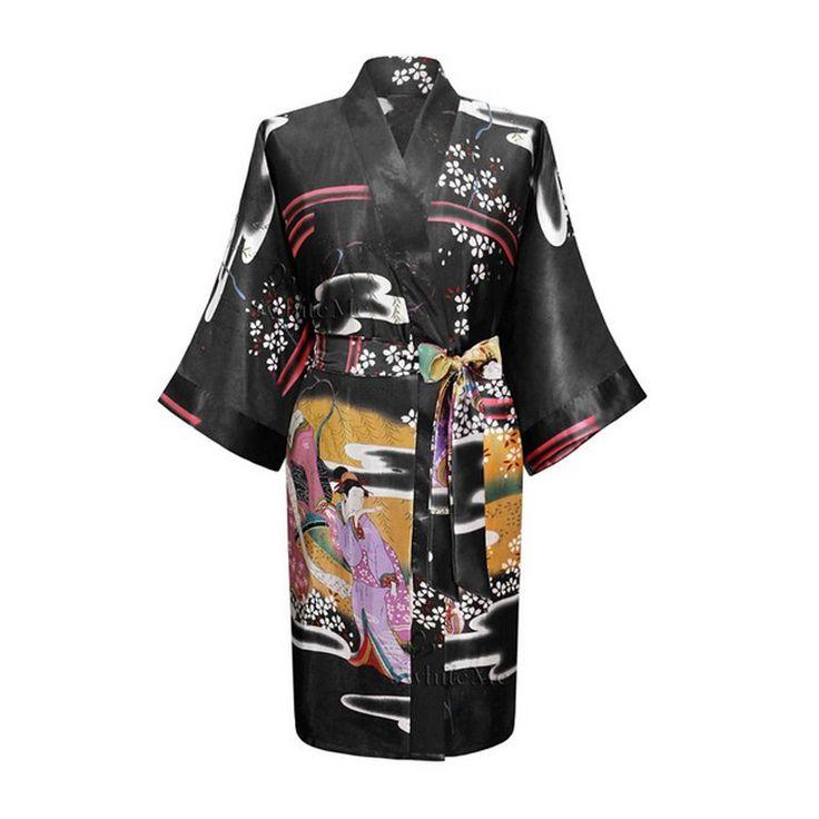 2016 Seta Kimono Robes Per Le Donne Accappatoio di Raso Lungo Donne Femme Vestaglia Di Seta Abiti Per Damigelle D'onore Longue Damigella D'onore Robe