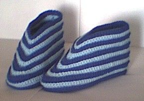 Easy Crocheted Adult Slippers ~ Free pattern