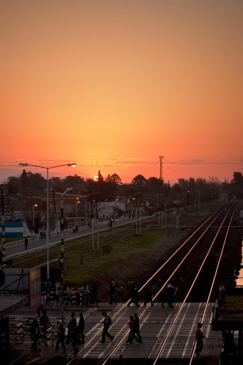 Sunset at San Miguel station, Buenos Aires ©VanesaGonzálezGallo 2010