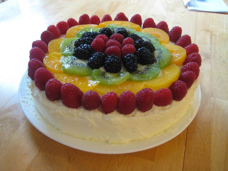 92 best images about Sponge cake with fresh fruits on ...