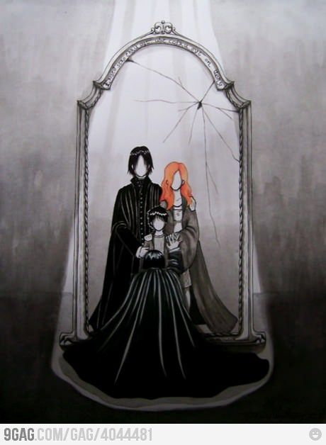 What Snape saw. Oh GOD.