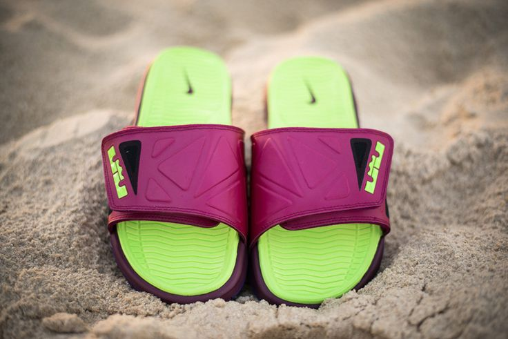 Online Hot Nike Air Lebron Slides Flops Red Black 487332 010  20b2976a2