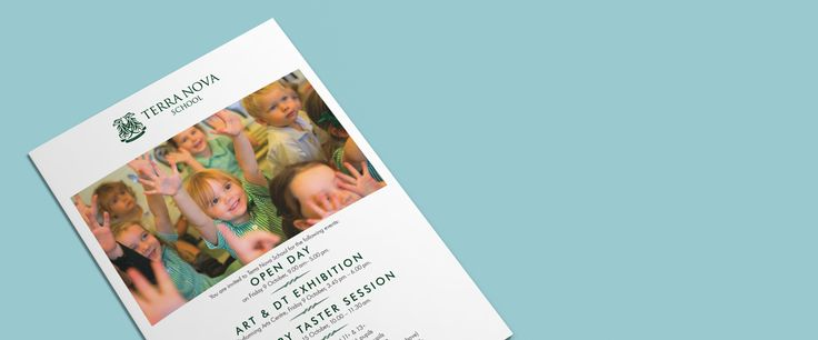 School leaflets design, prospectus design and copywriting, signage, banners, websites. School prospectus design in Manchester and the North West
