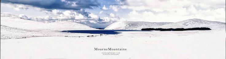 snowy Lake mourne mountains newcastle co.down