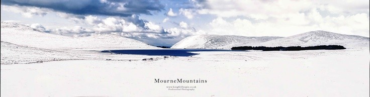 snowy Lake mourne mountains newcastle co.down