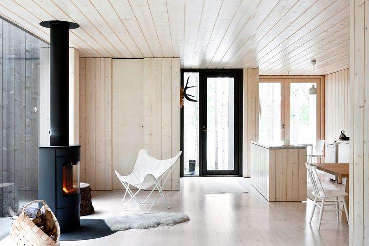Simple wooden kitchen area