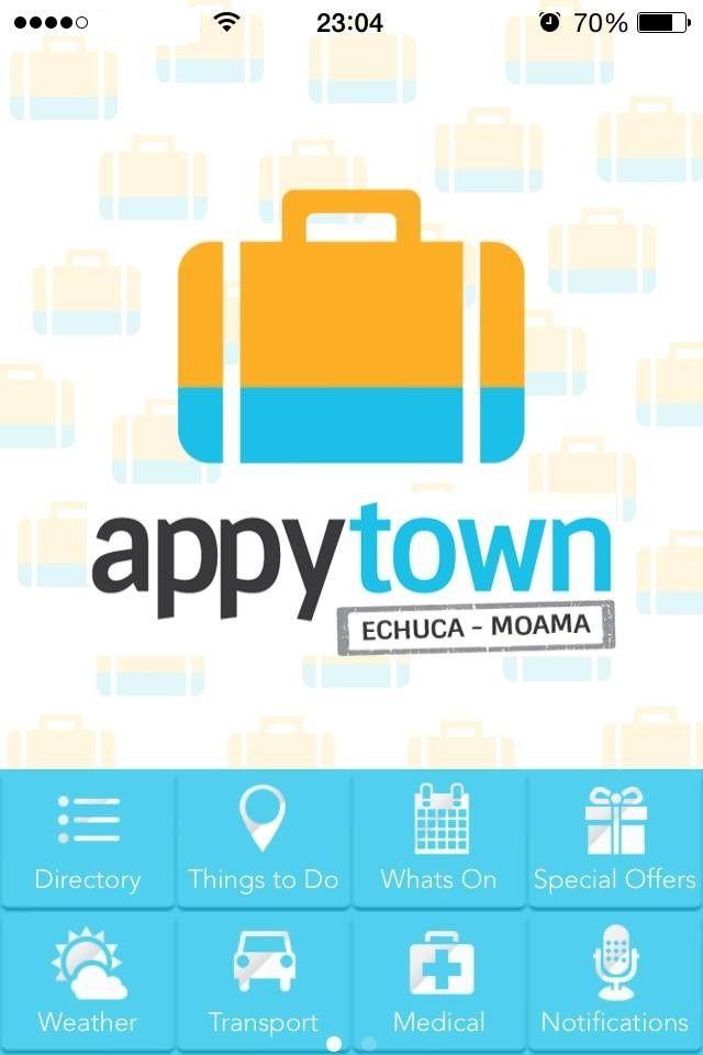 Appy Town app snapshot: Menu for Echuca - Moama