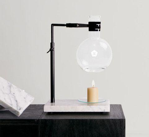 essential oil burner / white marble base