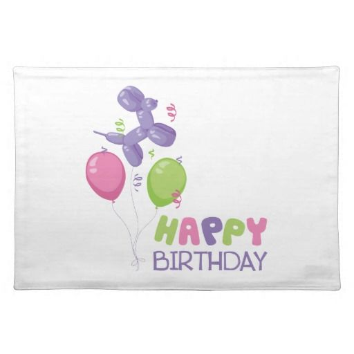 191 Best Images About Happy Birthday Placemats On Pinterest