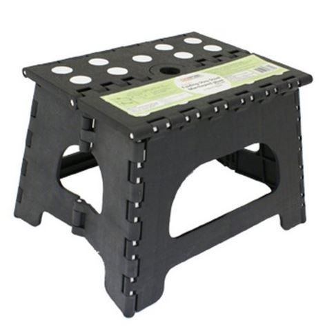 1-Step Plastic Folding Step Stool with 300 lb Load Capacity
