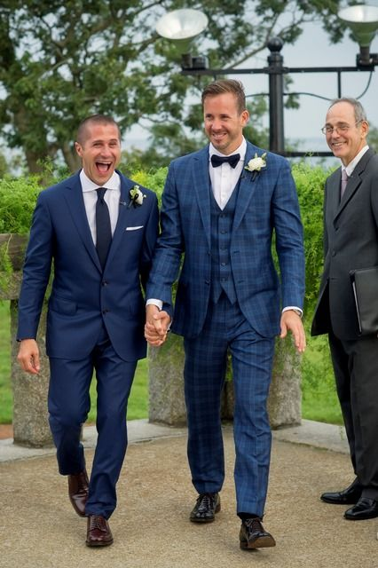 Anthony and Chad's Wedding at the Pilgrim Monument in Provincetown planned by www.14stories.com #samesexwedding #lgbtwedding #gaywedding