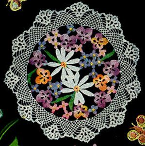 Flower Bouquet Doily - free vintage crochet pattern originally published in Doily Bouquet, Book No. 71.