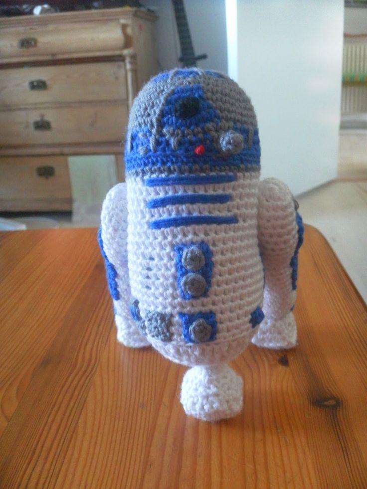 Kreaposen: R2D2, crochet, hæklet, star wars