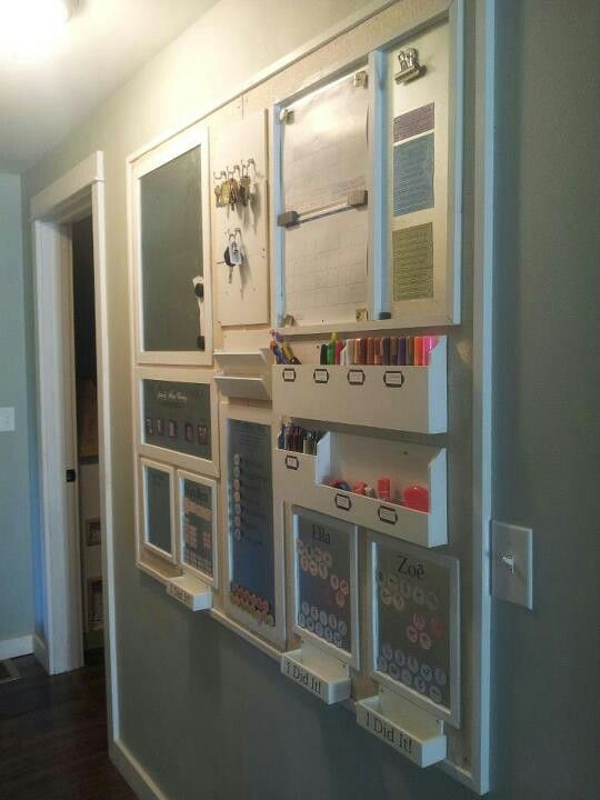 Home organization wall - I have to do this for my home!  It looks awesome!