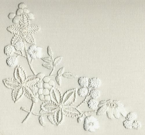 Mountmellick Embroidery Kit - a Hand Embroidery Design as an    Alternative to Cross-stitch.
