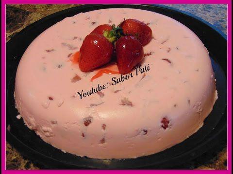gelatina de fresas con crema para el dia de las madres - YouTube