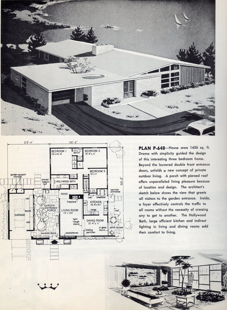 456 best images about atomic ranch on pinterest floor for 1950s ranch house plans