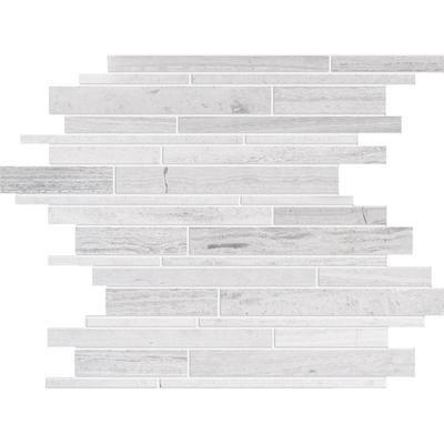 Modamo - Polished Random Strip Wooden White Limestone Mosaic - YUSSAG0005 - Home Depot Canada