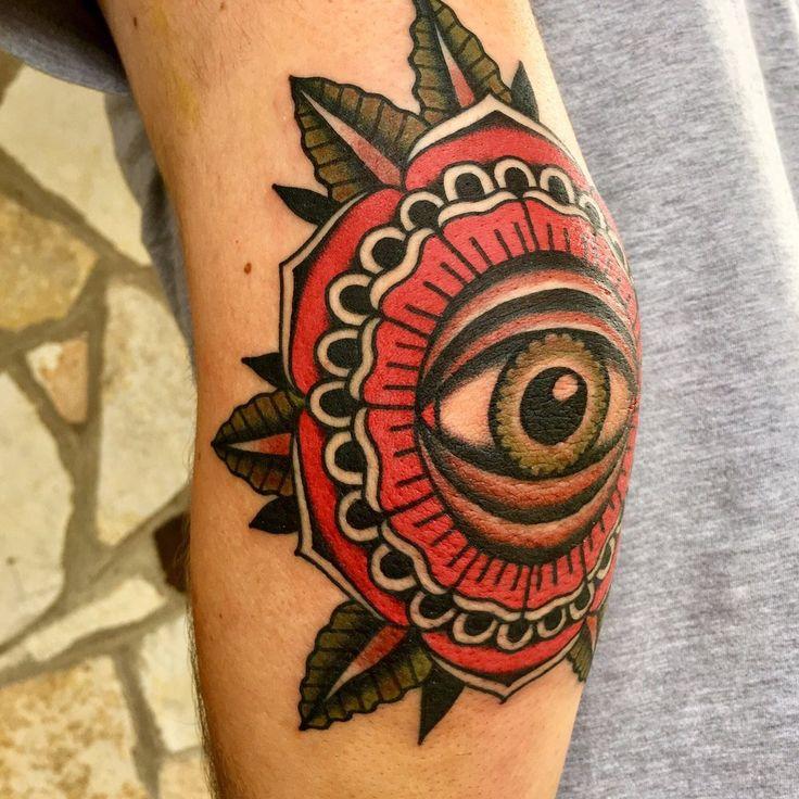 Photo of Mainstay Tattoo - Austin, TX, United States. Eyeball mandala on my left elbow done by Ivan Antonychev.