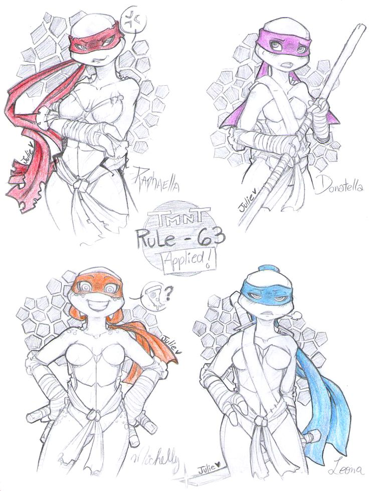 TMNT - Rule 63 Applied! by juliefofisss.deviantart.com on @deviantART
