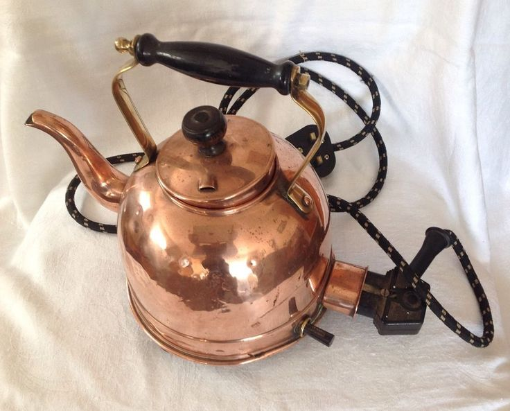 Vintage Copper Electric Kettle Cu Kettle Kitchen