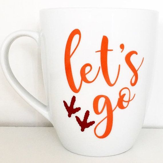 Hey, I found this really awesome Etsy listing at https://www.etsy.com/listing/482760787/virginia-tech-mug-go-hokies-mug-lets-go
