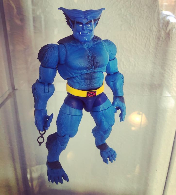 92 X Men The Animated Series Style Beast Marvel Legends Marvel Legends Custom Action Figure Beast Marvel Custom Action Figures Marvel Legends