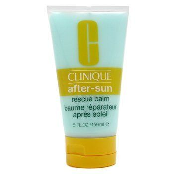 Clinique After Sun Rescue Balm with Aloe by Clinique. $42.00. Clinique After Sun Rescue Balm with Aloe. New in Box. **No U.S. Sale Tax** 5 oz / 150 ml. Sun Care / After Sun. An after sun repair used to moisturize and soothe the skin to combat damages from sun exposure. Aloe calms the skin and this balm minimizes peeling. Use for face and body. Oil-free. Non-acnegenic.