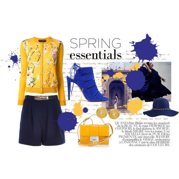 """Spring essentials Yellow&Royal blue"""