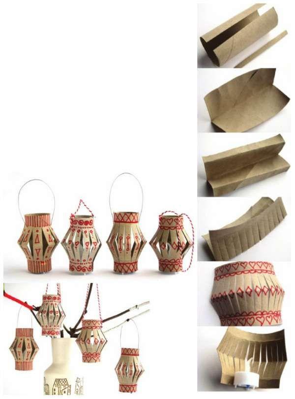 Lanternes avec des rouleaux de papier toilette + 15 super idées déco avec des rouleaux de papier toilette