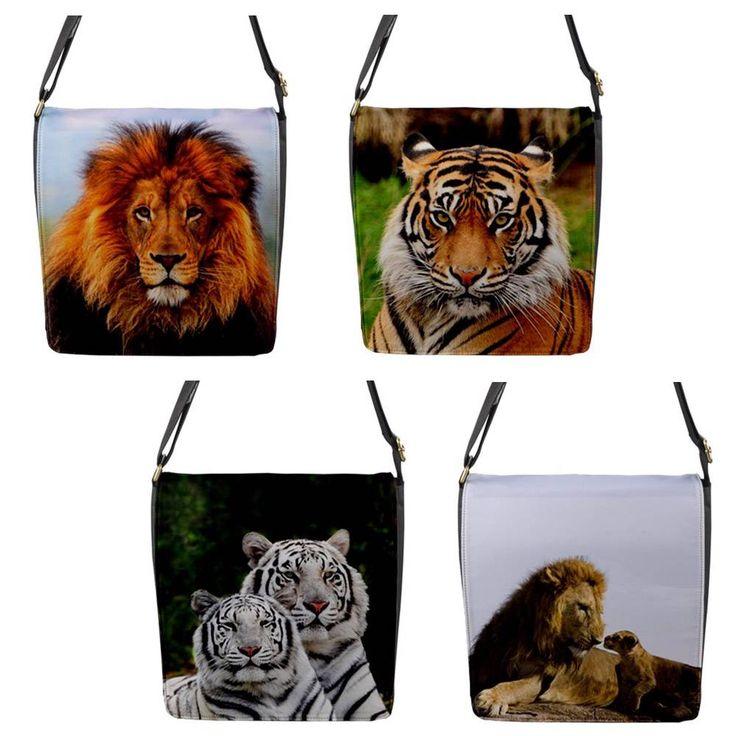 Lion Tiger Chameleon Removable Flap Shoulder BAG Regular | eBay