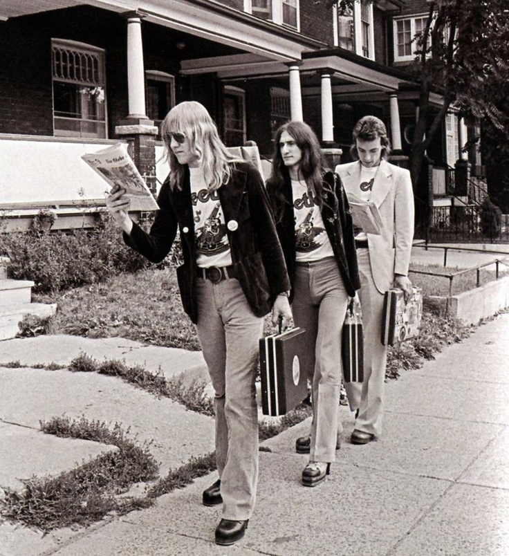 Rush, this photo was take when Neil Peart had just joined the band.