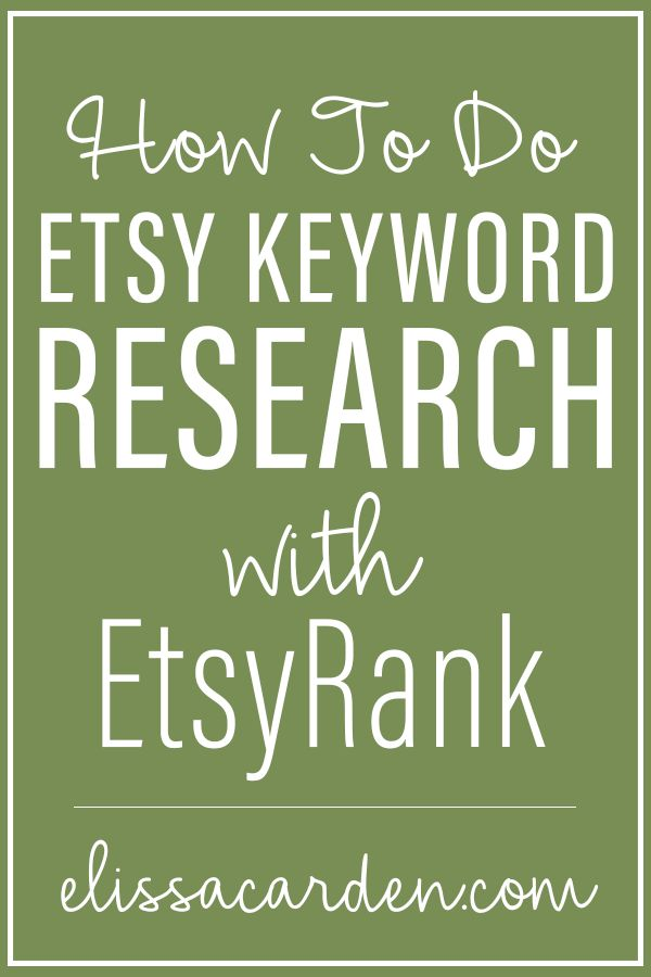 Etsy-Keyword-Recherche ist das Wichtigste, was Sie tun können, um einen soliden …