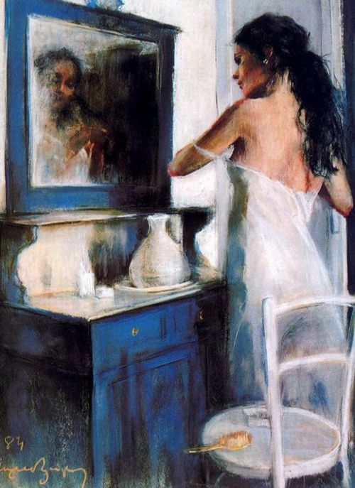 Cayetano De Arquer Buigas - Woman at her toillet (1984)
