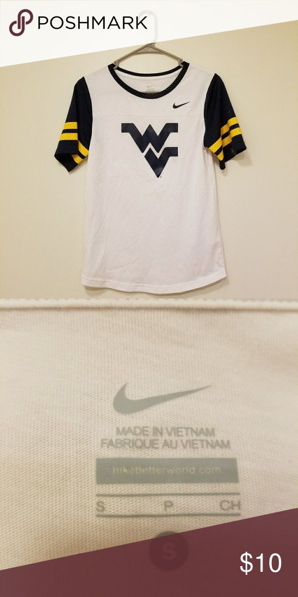 WVU Sports Tee This West Virginia University baseball style t-shirt is in perfect condition.   All my items are from a smoke-free, pet-free home! Nike Tops Tees - Short Sleeve