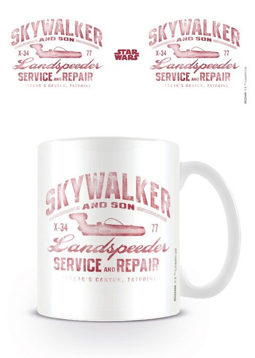 NEW : Mug Skywalker and Son Landspeeder ➡ http://ow.ly/2LJy300DKN7 ✔ en stock /  expédié en 24h / 12.90€  Superbe mug Star Wars vintage ! #StarWars