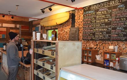 Rhino Coffee House in Tofino, BC
