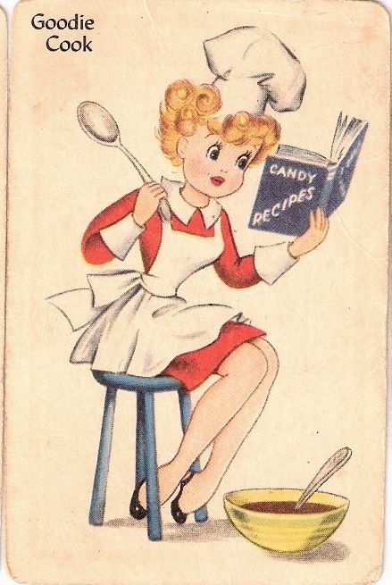 The vintage candy maker. #cute #vintage #illustrations
