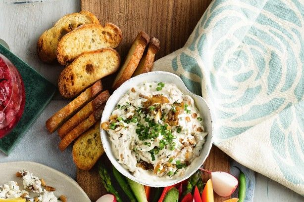 Get fancy with a new take on a classic dip recipe. With the addition of chopped fresh thyme, Worcestershire and garlic, this French onion dip is the perfect starter.