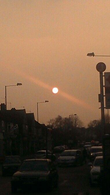 Beautiful sunset near home