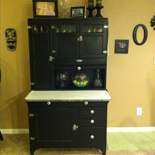 This Hoosier Cabinet Belonged To My Great Grandmother We Striped All The Paint